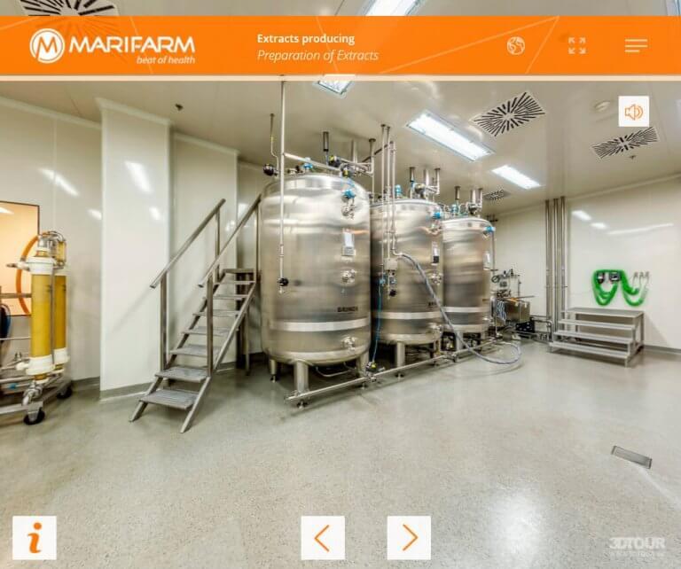 Виртуальный тур для фармацевтического производства Marifarm